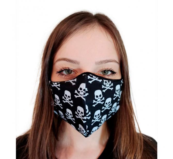 Máscara Tecido Modelo Caveiras - BCMED